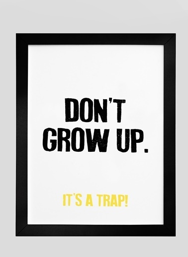Nordbagen Don't Grow Up Poster Siyah